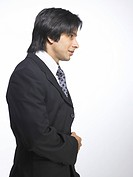 South Asian Indian executive man standing in style MR