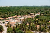 Town, Village, Rio Preguiças, Mandacaru, Maranhão, Brazil