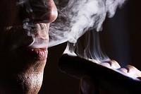 Man smoking, Porto Alegre, Rio Grande do Sul, Brazil