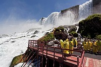Tourists overlooking Niagara Falls, USA