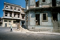 Havana, Cuba  Rundown buildings in Centro Havana