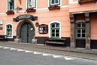 Hotel restaurant Gasthof Blaue Traube in Bad Aussee, Ausseerland, Totes Gebirge, Salzkammergut, Styria Alps, Austria, Europe