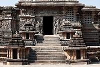 Hoysaleswara Temple, Hoysala style, Halebidu, Karnataka, South India, India, South Asia, Asia