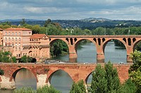 Old bridge over Tarn river, Albi, Tarn, France