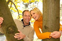 Portrait couple in autumn