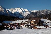 Townscape, Seefeld, Wetterstein Range, Tyrol, Austria, Europe