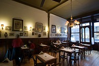 Stylish interior of Cafe Brasilero  Montevideo's longest operating cafe   Opened 1877  Uruguay, South America