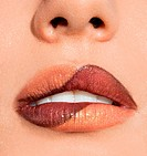 close_up of beautiful womanish lips