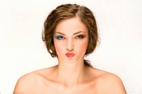 Woman With Puckered Lips