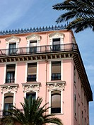 Pink old building at Nice