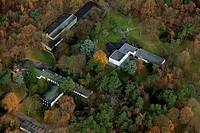 Aerial picture, Huenxe, North Rhine-Westphalia, Germany, Europe