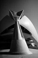 Reina Sofia Palace of Arts, City of Arts and Sciences by Santiago Calatrava, Valencia  Comunidad Valenciana, Spain
