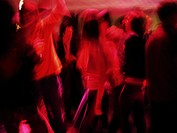 Blurred Dancers on Dance Floor