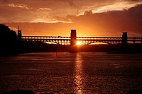 Britannia Bridge over the Menai Straights, Anglesey, Wales