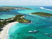 Mauritius, aerial view from an helicopter
