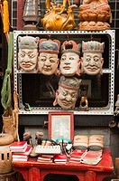 Traditional masks, crafts shop, Panjiayuan flea market, Chaoyang District, Beijing, China, Asia