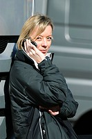 Sabine Kehm, spokesperson and media adviser to Michael Schumacher, during Formula 1 test driving in Valencia, Spain, Europe