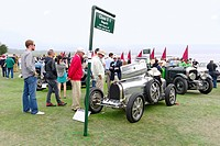 The cars and crowds at the Concours d'Elegance.