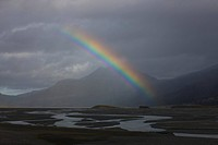 Rainbow over Jokulsarlon, Iceland