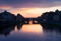 The Arno River and Ponte Vecchio, Florence, Italy