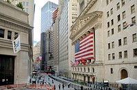 New York stock exchange, Wall Street, Financial District, Manhattan, New York, New York, United States of America