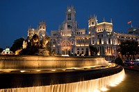 Cibeles Fountain and Palacio de Comunicaciones, Madrid, Spain (thumbnail)