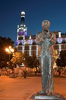 Statue, Plaza Santa Ana, Madrid, Spain