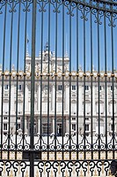 Railings in front of the Palacio Real, Madrid, Spain