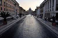 St. Peter's Basilica, Via della Conziliazione, Rome, Lazio, Italy, Europe