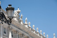 Palacio Real and gas lamp, Madrid, Spain