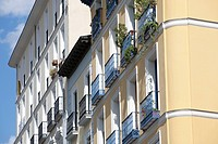 Apartments Facade, Madrid, Spain