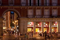 Restaurant in, Plaza Mayor, Madrid, Spain