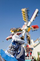 Fairground ride at Oktoberfest, Munich, Bavaria, Germany