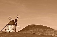 Windmill, Fuerteventura, Canary Islands, Spain, Europe