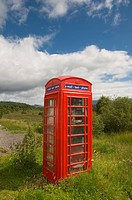 Telephone Booth, Pitlochry, Scotland, U.K
