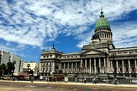 Congress building, Congreso de la Nacion, Balvanera district, Buenos Aires, Argentina