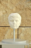 Portrait bust of Gaio Cesare, Augustae Ara Pacis Museum, Rome, Lazio, Italy, Europe