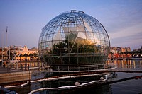 La Biosfera at the waterfront promenade, port, Genova, Genoa, Liguria, Italy, Europe, PublicGround