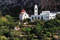 Church in Messochori, island of Karpathos, Aegean Islands, Dodecanese, Aegean Sea, Greece, Europe