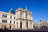 Basilica of the Shrine of Our Lady of the Rosary, Santuario della Madonna del Rosario, modern Pompei, architects Antonio Cua and Maria Chiapetta, Napl...