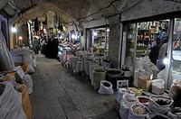 Shops in the covered bazar on Zanjan, Iran, Persia, Asia