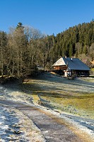 Typical Black Forest House, Hinterzarten, Black Forest, Baden_Wuerttemberg, Germany, Europe