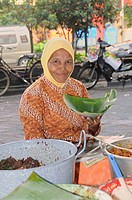 Cookshop in the morning, on the street in Jogyakarta, Central Java, Indonesia, Southeast Asia, Asia