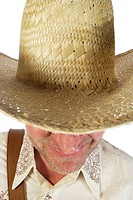 Man mit Straw Hat