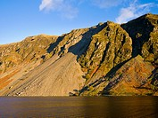 Illgill Head and The Screes by Wastwater near Nether Wasdale in the Lake District National Park, Cumbria, England, United Kingdom