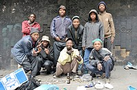 Group of street children in Hillbrow, Johannesburg, South Africa, Africa