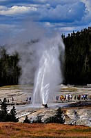 Beehive geyser in Yellowstone National Park, USA