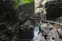 Breitachklamm gorge near Oberstdorf, Allgaeu, Bavaria, Germany, Europe