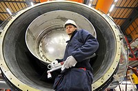 Siemens turbine factory worker, Finspong, Sweden