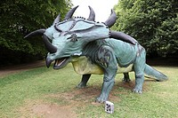 The park styracosaure cardoland This prehistoric animal, Styracosaurus albertensis also called lizard lived spikes in the late Cretaceous